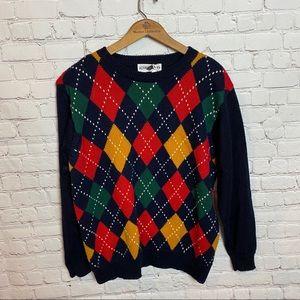 Women's vintage argyle sweater!